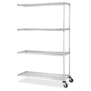 Lorell Industrial Wire Shelving Add on Unit 48 Width X 18 Depth Steel