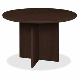 Lorell Prominence Round Laminate Conference Table 29 Top Edge