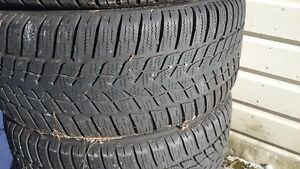 Two Used Good Year Ultragrip Performance Winter Snow Tires 245 45r17