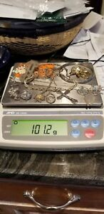 Lot Of Sterling Silver Jewelry Some Scrap Some Not Over 100 Total Grams 2