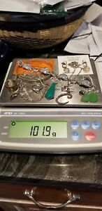 Lot Of Sterling Silver Jewelry Some Scrap Some Not Over 100 Total Grams 5