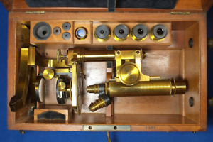 Seibert Microscope Cabinet 3 Objectives 4 Eyepieces Antique Rare Price Lowered