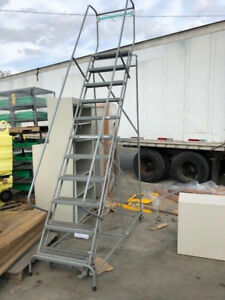 Rolling Ladder 24 w 10 Step New