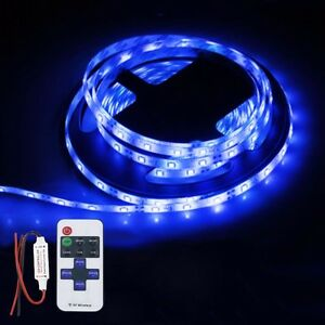Wireless Waterproof Led Strip Light 16ft For Boat Truck Car Suv Rv Blue