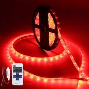 Wireless Waterproof Led Strip Light 16ft For Boat Truck Car Suv Rv Red