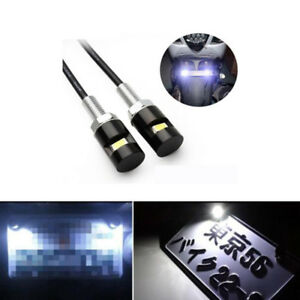 2x White 5730 Smd Bolt On Led License Plate Light For Car Or Motorcycle Atv Bike