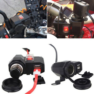 12 V Car Cigarette Lighter Socket Splitter Dual Usb Charger Plug Power Adapter