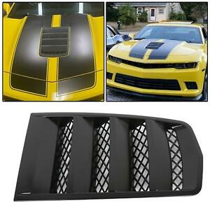 New Hood Scoop Vents Black For 2014 2015 Chevroelt Camaro