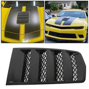 New Hood Scoop Vents Black For 2014 2015 Chevrolet Camaro