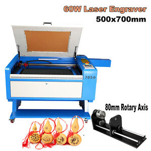 High Precise 60w Co2 Laser Cutter Engraving Cutting Machine 28 x20 rotary Axis