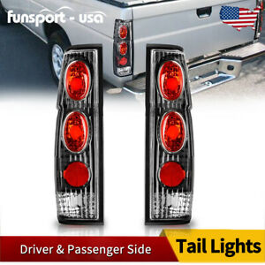 For 1986 1997 Nissan Hardbody D21 Pickup Tail Lights Clear Rear Lamp Replacement