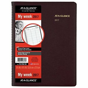 At a glance Weekly Appointment Book Planner 2017 8 1 4 X 10 7 8 Winestone