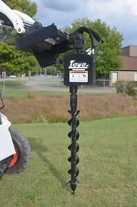 Bobcat Skid Steer Attachment Lowe 750 Hex Auger Drive With 6 Bit Ship 199