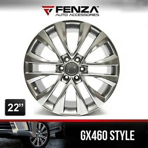 22 Inches Gx 460 Style Wheels For Lexus Toyota Rims 6 Bolts Set Of 4