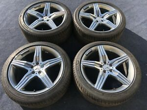 4 Genuine Mercedes Benz S63 S65 S550 Amg Wheels Tires Rims Oem Factory 20 In
