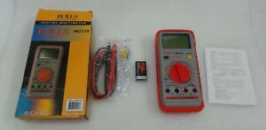Rolls Mu118 Digital Multimeter With Frequency Measurement And Temperature