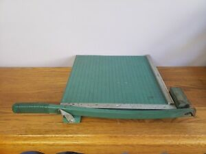 Vintage 12 Premier Guillotine Paper Cutter Chopper Trimmer Craft photo