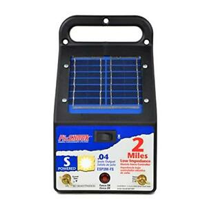 Electric Fence Solar Charger Pet Dog Deer Horse Shock Corral Garden Fencing 2 mi