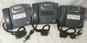 3 Hac Nsq412 4 line Business Office Telephones Seakerphone System Phone Lot