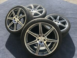 4 Genuine Mercedes Sls 63 Wheels Tires Oem Factory Amg Rims Sls63