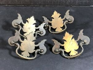 Set Of 4 Chippendale Bail Style Drawer Pulls