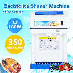 New Commercial Ice Shaver Crusher Shaving Machine Process Snow Cone Maker