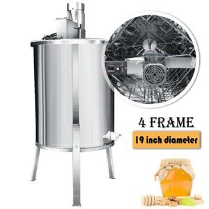 Stainless Steel Electric Honey Extractor Bee Hive Large 4 Frame Beekeeping Drum