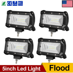 4x 5inch Led Work Light Bars Flood Driving Pods Jeep Atv Truck Cart Off Road 6