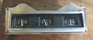 Vintage Dash Instrument Cluster Oil Fuel Temp