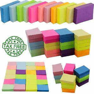Sticky Notes Memo Reminder Neon Colors 2400 24 Pads 100 Sheets Mega Pack