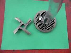 Meat Grinder Plate 32 Commerical Bone Extractor System And Carbide Knife