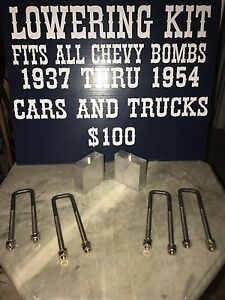 4 Inch Lowering Kit 1950 1951 1952 Chevy Chevrolet Truck