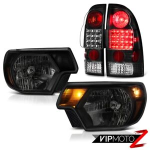 12 15 Toyota Tacoma Prerunner Headlights Nighthawk Black Rear Brake Lights Smd