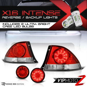 cree Led Backup Fit 01 05 Lexus Is200 Is300 Saloon Red Trunk Tail Lights Pair
