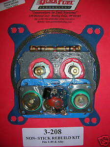 Holley Alcohol E85 Rebuild Kit Carburetor Carb Quick Fuel Aed Dem