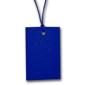 Blue Stringed Card Clothing Tags 70mm X 45mm pack Of 500