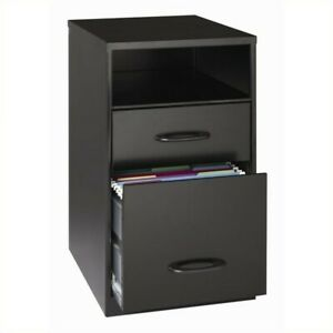 Scranton Co 2 Drawer File Cabinet In Black