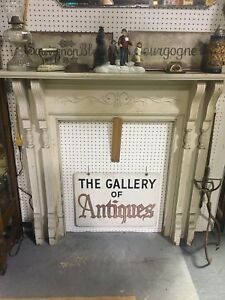 Antique Wood Carved Fireplace Mantel 51 X 48 Architectural Salvage