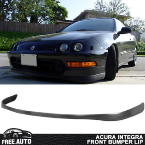 Fits 94 97 Acura Integra Front Bumper Lip Spoiler Body Sir Vetc Style Black Pu
