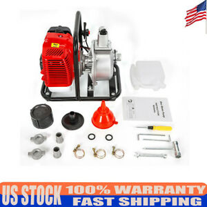 Water Transfer Pump Set Kit Hose Clamps fittings 43cc 1 7hp 2 stroke Engine New