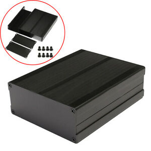 Black 120x97x40mm Split Body Aluminum Box Enclosure Case Project Electronic Diy