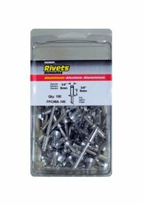 Fpc Corporation Fpc86a 100 1 4in X 3 8in Medium Aluminum Rivet 100 box