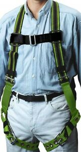 Miller Duraflex Stretchable Full Body Safety Harness With Leg Tongue Buckles Sm