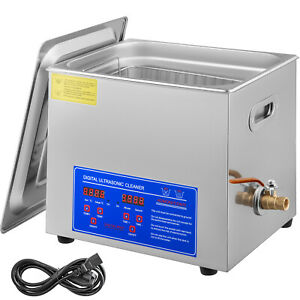 10l Digital Ultrasonic Cleaner Kit Ultra Sonic Bath Timer Jewellery Cleaning