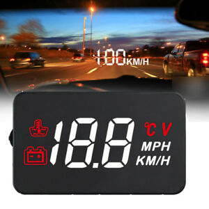 5 5 A100 Car Hud Head Up Display Obd2 Ii Auto Overspeed Warning System Alarm