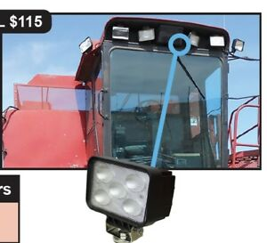 Case Ih Combine Cotton Picker Led Side Work Light Bottom Mount 185118a1 2862