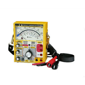 Triplett 2012 Railroad Tester With 100 Hz And 200 Hz Cab Filters