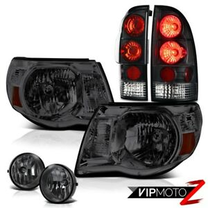 2005 2011 Tacoma Black Rear Tail Lights Smoke Headlights Bumper Foglights Pair