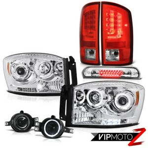 2007 2008 Dodge Ram 1500 Slt Taillights Headlamps Fog Lamps Roof Cargo Lamp Led