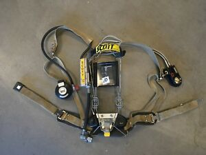 Scott 2 2 Scba Integrated Pass Air Pack Harness Firefighter Airpak Respirator 10